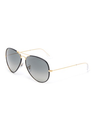 Main View - Click To Enlarge - RAY-BAN - Metal Accent Acetate Aviator Sunglasses