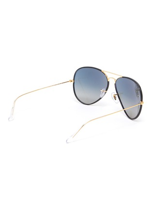 Figure View - Click To Enlarge - RAY-BAN - Metal Accent Acetate Aviator Sunglasses
