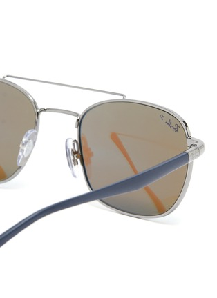 Detail View - Click To Enlarge - RAY-BAN - Contrast Temple Double Bridge Metal Frame Sunglasses