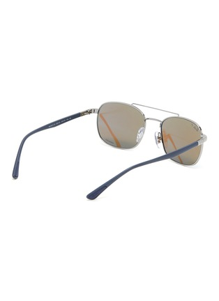 Figure View - Click To Enlarge - RAY-BAN - Contrast Temple Double Bridge Metal Frame Sunglasses