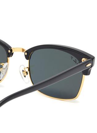 Detail View - Click To Enlarge - RAY-BAN - Metal Bridge Rectangular Acetate Frame Sunglasses