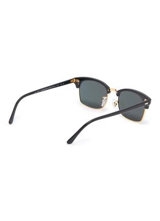 Figure View - Click To Enlarge - RAY-BAN - Metal Bridge Rectangular Acetate Frame Sunglasses