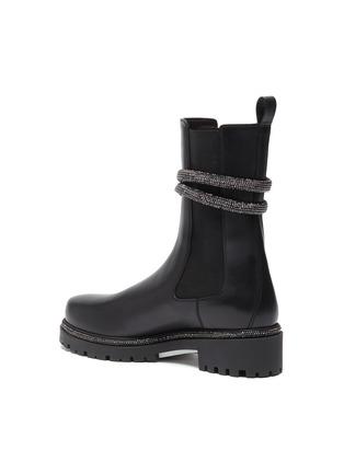 - RENÉ CAOVILLA - 'Cleo' hematite strass coil chelsea boots
