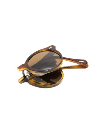 Detail View - Click To Enlarge - OLIVER PEOPLES ACCESSORIES - 'Gregory Peck 1962' Foldable Acetate Phantos Frame Sunglasses
