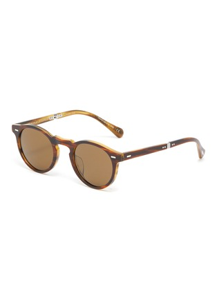 Main View - Click To Enlarge - OLIVER PEOPLES ACCESSORIES - 'Gregory Peck 1962' Foldable Acetate Phantos Frame Sunglasses