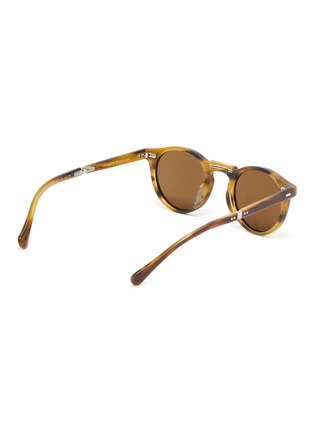 Figure View - Click To Enlarge - OLIVER PEOPLES ACCESSORIES - 'Gregory Peck 1962' Foldable Acetate Phantos Frame Sunglasses