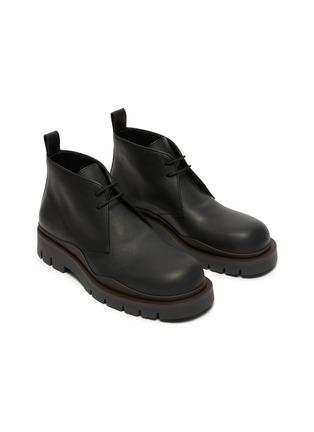 Detail View - Click To Enlarge - BOTTEGA VENETA - Tire' Platform Tread Sole Leather Chukka Boots