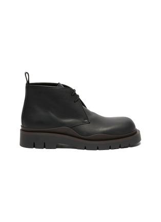 Main View - Click To Enlarge - BOTTEGA VENETA - Tire' Platform Tread Sole Leather Chukka Boots