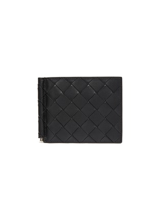 Main View - Click To Enlarge - BOTTEGA VENETA - Money Clip Duo-tone Intrecciato Leather Wallet