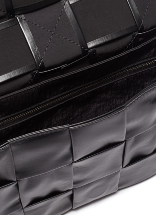 Detail View - Click To Enlarge - BOTTEGA VENETA - Calfskin Leather Messenger Bag