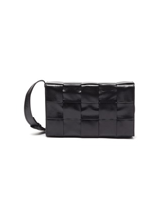 Main View - Click To Enlarge - BOTTEGA VENETA - Calfskin Leather Messenger Bag