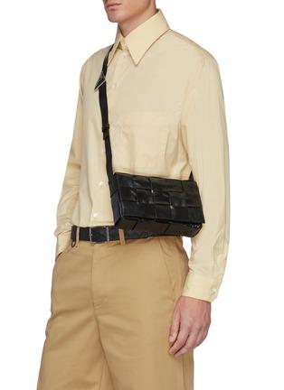 Figure View - Click To Enlarge - BOTTEGA VENETA - Calfskin Leather Messenger Bag