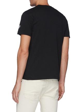 Back View - Click To Enlarge - FDMTL - Tie Dye Snap Front Pocket Crewneck Cotton T-shirt