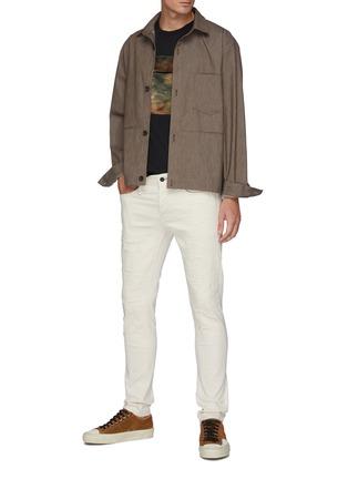 Figure View - Click To Enlarge - FDMTL - Tie Dye Snap Front Pocket Crewneck Cotton T-shirt