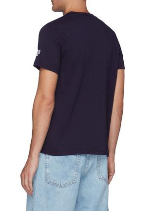 Back View - Click To Enlarge - FDMTL - Sashiko Circle Patch Crewneck Cotton T-shirt