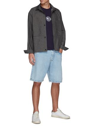 Figure View - Click To Enlarge - FDMTL - Sashiko Circle Patch Crewneck Cotton T-shirt