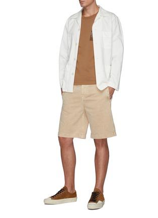 Figure View - Click To Enlarge - FDMTL - Sashiko Chest Patch Crewneck Cotton T-shirt