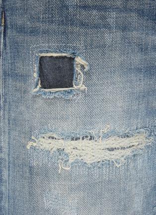 - FDMTL - Geometric Patch Distress Detail Tie-Dye Jeans