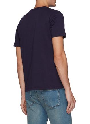 Back View - Click To Enlarge - FDMTL - Sashiko Grid Embroidery Tie Dye Patch Crewneck Cotton T-shirt