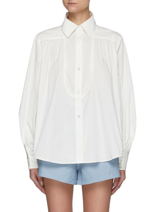 Main View - Click To Enlarge - C/MEO COLLECTIVE - Feel So Lucky' Bell Sleeves Shirt