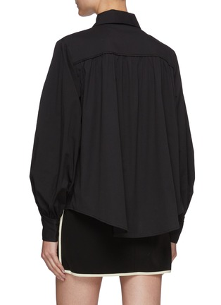 Back View - Click To Enlarge - C/MEO COLLECTIVE - Bell Sleeves Black Shirt