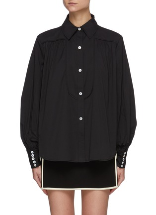Main View - Click To Enlarge - C/MEO COLLECTIVE - Bell Sleeves Black Shirt