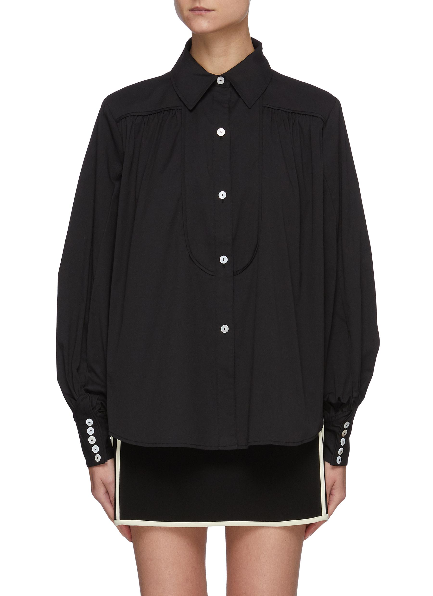 Bell Sleeves Black Shirt