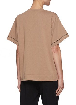 Back View - Click To Enlarge - C/MEO COLLECTIVE - Just Thinking' Logo Embroidered Sleeve Trim Cotton T-shirt