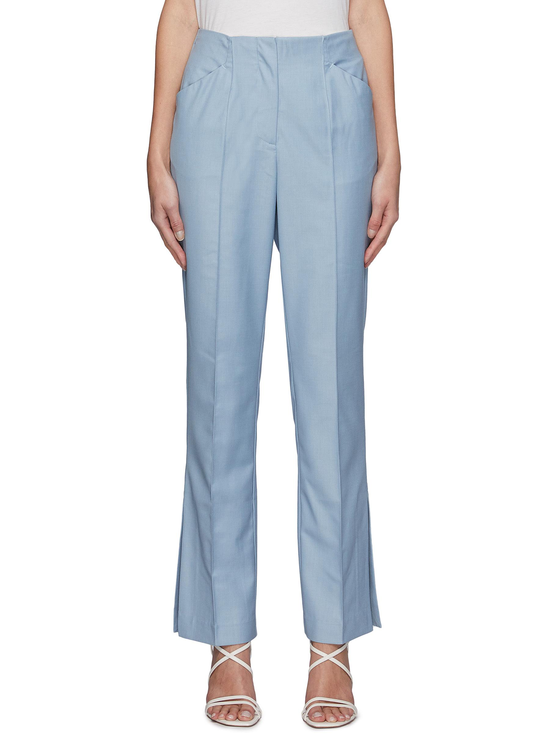 Magnetised' Centre Pleat Tailored Pants