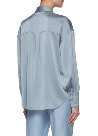 Back View - Click To Enlarge - C/MEO COLLECTIVE - Right There' Bell Sleeves Shirt