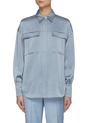 Main View - Click To Enlarge - C/MEO COLLECTIVE - Right There' Bell Sleeves Shirt