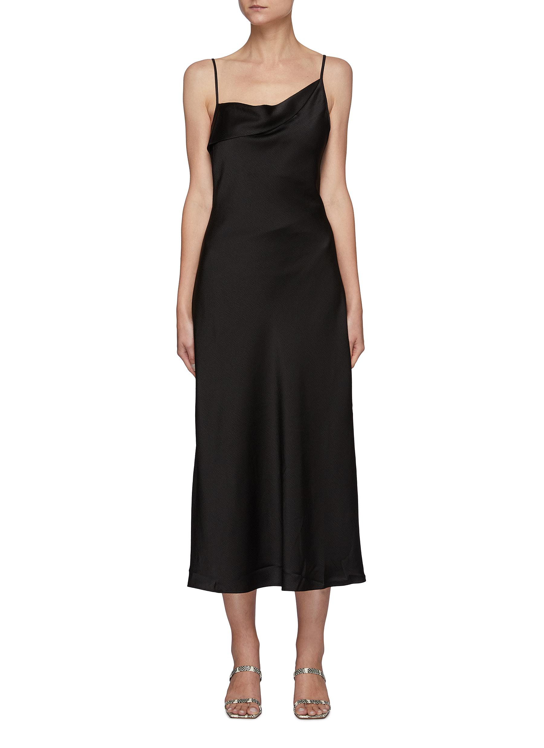 What You Do' Ruched Neck Slip Dress