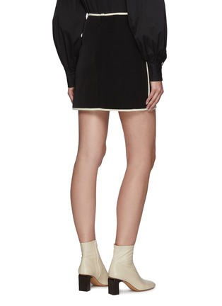 Back View - Click To Enlarge - C/MEO COLLECTIVE - Polarise' A Line Mini Skirt