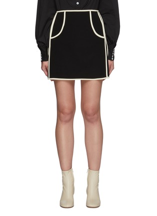 Main View - Click To Enlarge - C/MEO COLLECTIVE - Polarise' A Line Mini Skirt