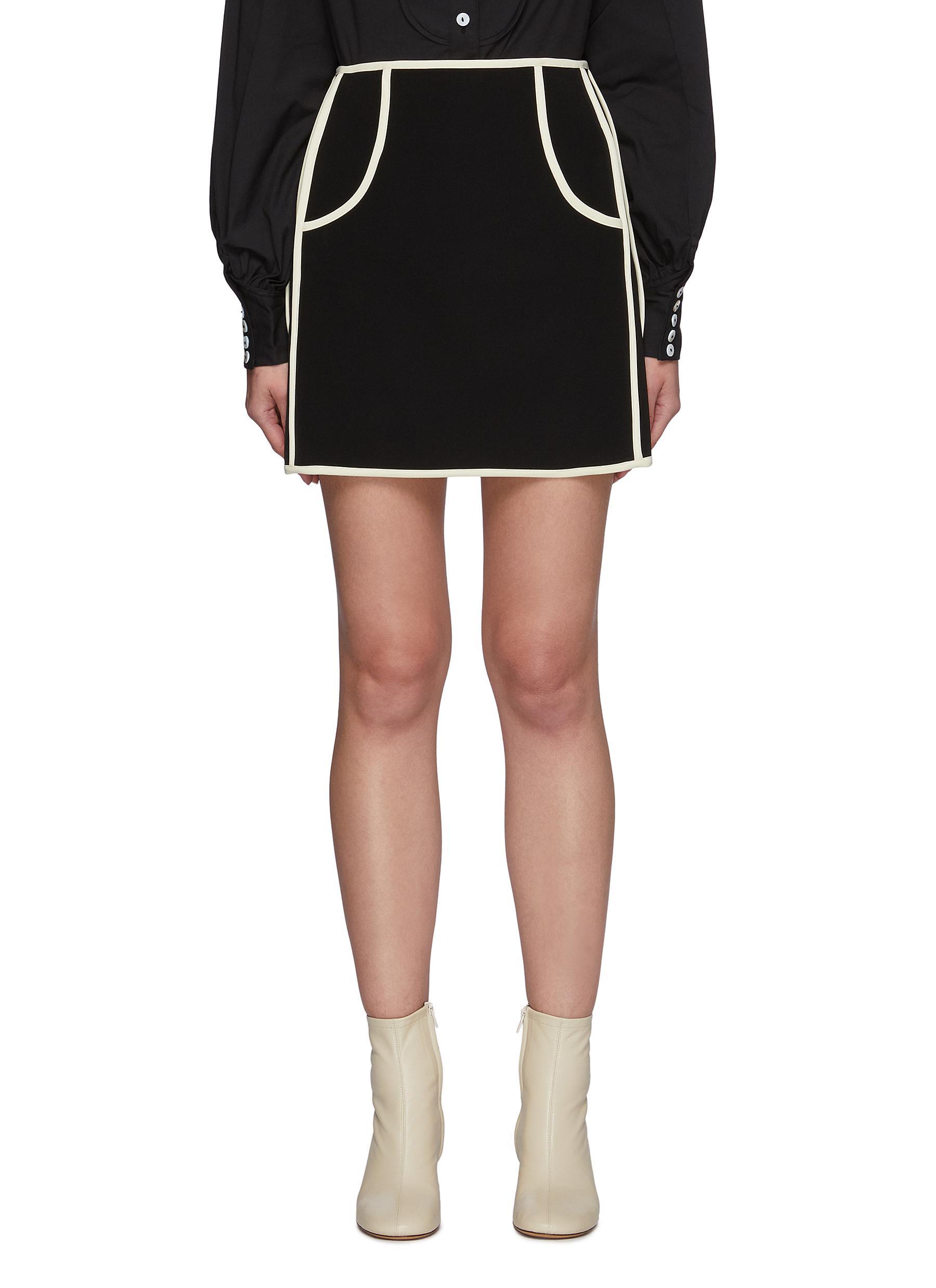 Polarise' A Line Mini Skirt