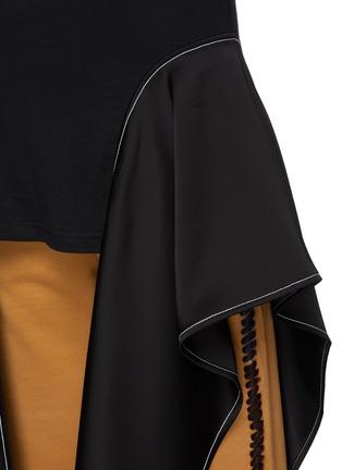 - JW ANDERSON - Satin Drape Hem Cotton T-shirt