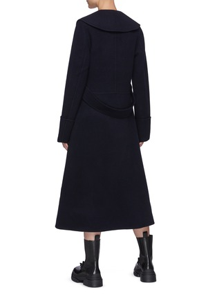 Back View - Click To Enlarge - JW ANDERSON - Puritan Collar Wool Duffle Coat