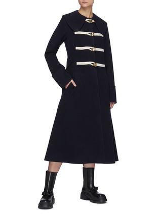 Figure View - Click To Enlarge - JW ANDERSON - Puritan Collar Wool Duffle Coat