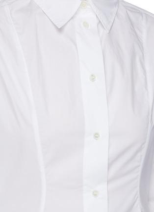 - JW ANDERSON - Flare Hem Cinch Waist Cotton Poplin Shirt