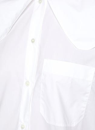 - JW ANDERSON - Oversized Round Collar Cotton Poplin Shirt