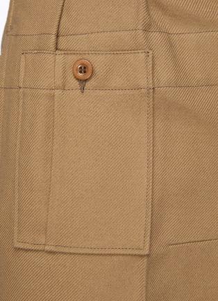 - MAISON MARGIELA - High Waisted Asymmetric Cropped Pants