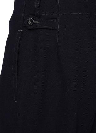 - MAISON MARGIELA - High Waist Buckled Cuff Wool Blend Pants