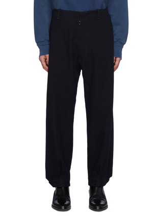 Main View - Click To Enlarge - MAISON MARGIELA - High Waist Buckled Cuff Wool Blend Pants