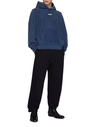 Figure View - Click To Enlarge - MAISON MARGIELA - High Waist Buckled Cuff Wool Blend Pants