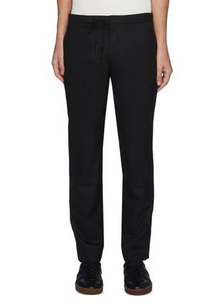 Main View - Click To Enlarge - MAISON MARGIELA - Drawstring Straight Legged Virgin Wool Pants