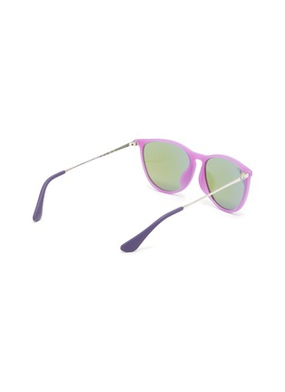 Figure View - Click To Enlarge - RAY-BAN - 'Izzy' Sanded Acetate Frame Junior Sunglasses