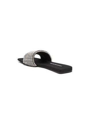 - ALEXANDERWANG - 'Anya' square toe crystal slides
