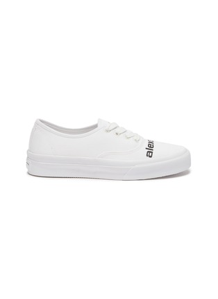 Main View - Click To Enlarge - ALEXANDERWANG -  ''Dropout' logo print canvas sneakers