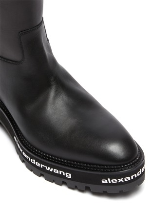 Detail View - Click To Enlarge - ALEXANDERWANG - Sanford' logo midsole leather boots