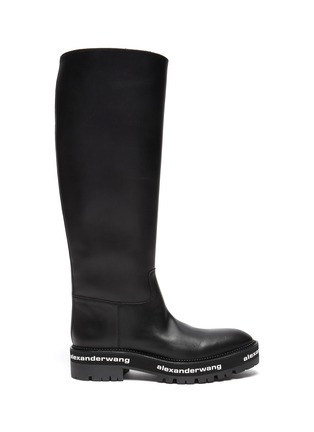 Main View - Click To Enlarge - ALEXANDERWANG - Sanford' logo midsole leather boots